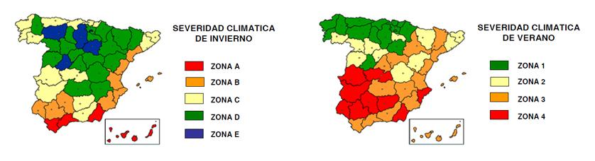 cte mapa zonas climáticas