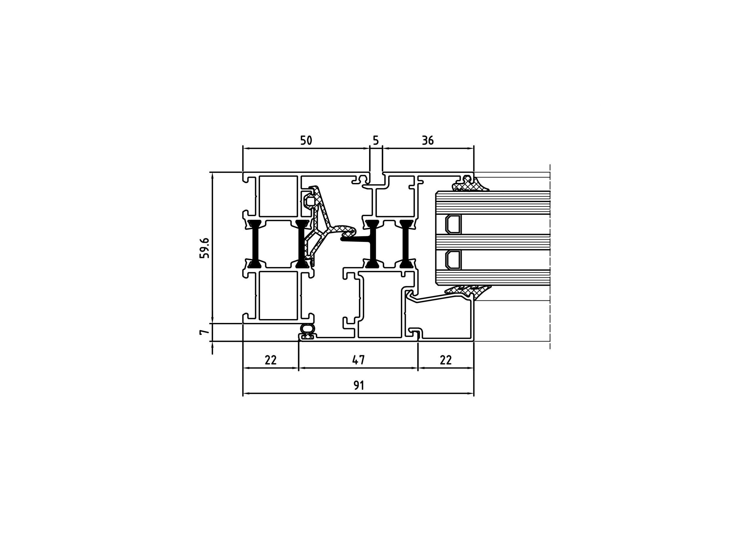 sistema practicable con rotura de puente termico AE 0943 2